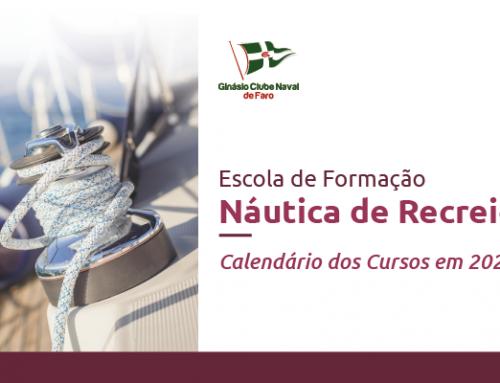 Calendário da Formação Náutica de Recreio para 2020