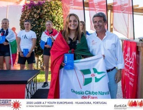 Os atletas do GCNF com a melhor Classificação Nacional no Europeu de Laser 4.7